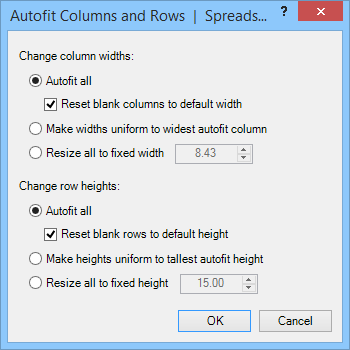Autofit Rows and Columns