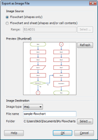 Export Flowchart as Image File