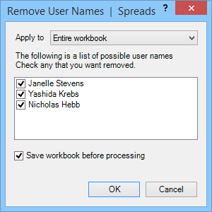 remove user names