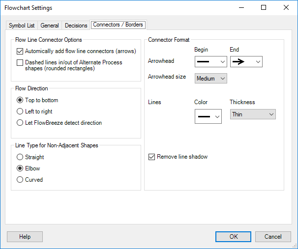 Settings - Connectors