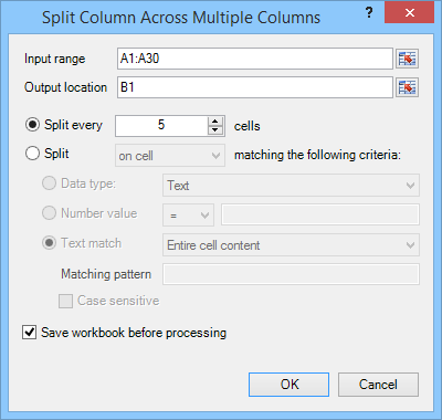 Split Column Across Multiple Columns