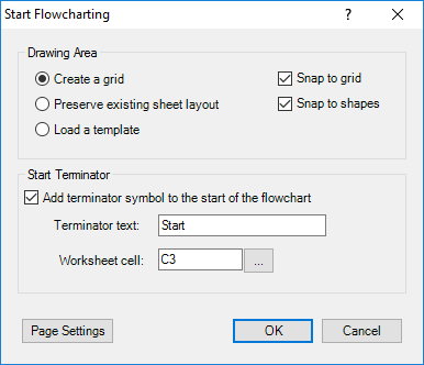 Start Flowcharting Window
