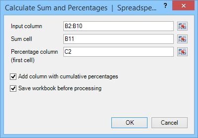 Sum and Percentage Form