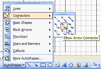 Excel Flow Chart Connectors toolbar