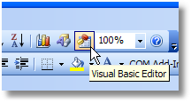 Visual Basic Editor toolbar button