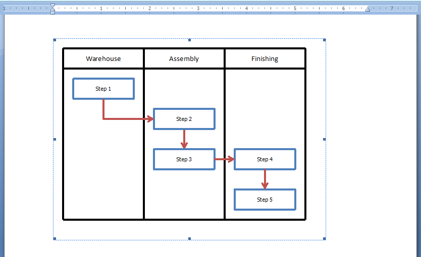 Word Final Embedded Excel Flowchart
