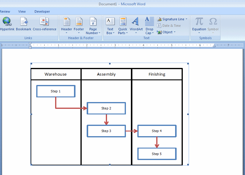 How To Embed An Excel Flowchart In Microsoft Word Breezetree